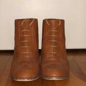 fad285f27 Shoes - Brown Forever 21 Lace Up Booties
